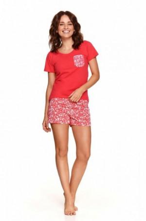 Taro Agnes 2499 červené Dámské pyžamo S červená