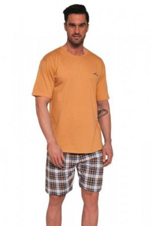 Cornette Mark 326/111 oranžové Pánské pyžamo M oranžová