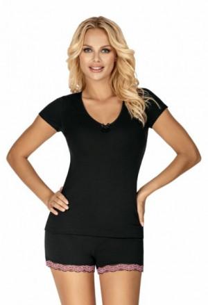 Donna Clara 1/2 černé Dámské pyžamo XL černá