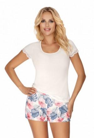 Donna Mila 1/2 ecru Dámské pyžamo XL ecru