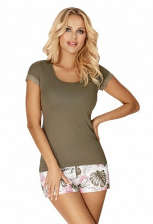 Donna Mila 1/2 khaki Dámské pyžamo XL khaki
