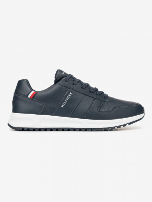 Modern Corporate Leather Runner Tenisky Tommy Hilfiger Modrá