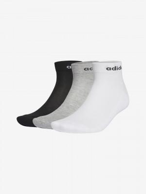 Ponožky 3 páry adidas Performance Šedá