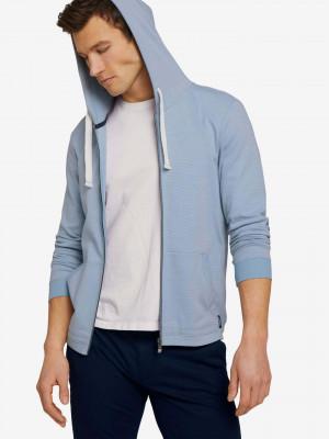 Textured Jersey Mikina Tom Tailor Modrá