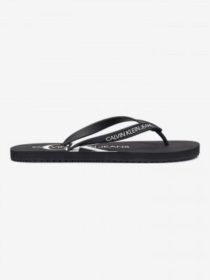 Beach Sandal Monogram Žabky Calvin Klein Černá