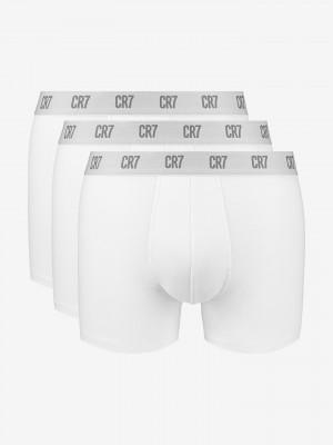 Boxerky 3 ks CR7 Bílá