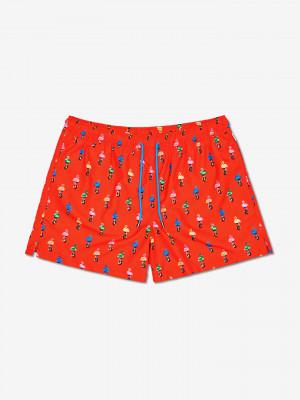 Flamingo Plavky Happy Socks Červená