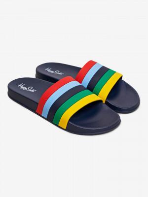 Pool Slider Stripe Pantofle Happy Socks Modrá
