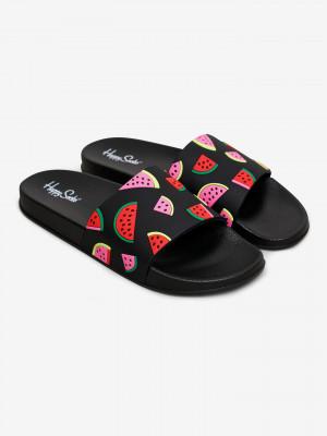 Pool Slider Watermelon Pantofle Happy Socks Černá