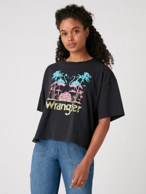Boxy Triko Wrangler Černá