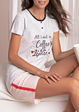 Dámské pyžamo Cotonella DDB710 L Sv. šedá