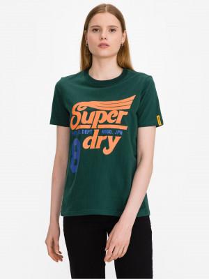 Collegiate Cali State Triko SuperDry Zelená