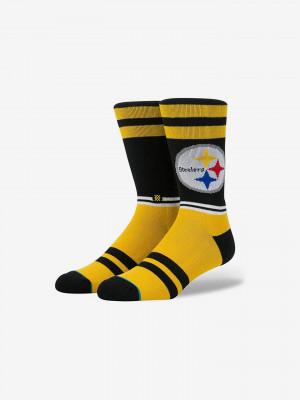 Steelers Logo Ponožky Stance Černá