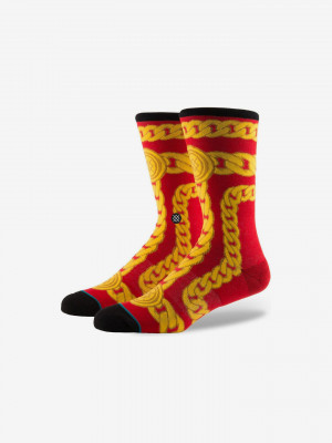 Linx Red Ponožky Stance Červená