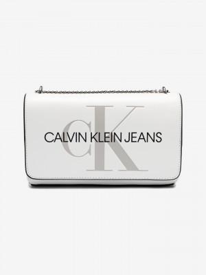 Cross body bag Calvin Klein Bílá