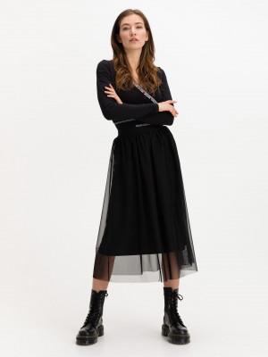 Logo Sukně Calvin Klein Černá