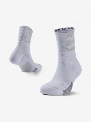 Playmaker Mid-Crew Ponožky Under Armour Bílá