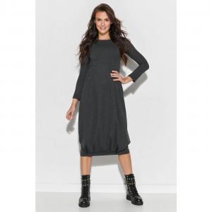 Dámské šaty NU 321 - Numinou tmavě šedá 44-46