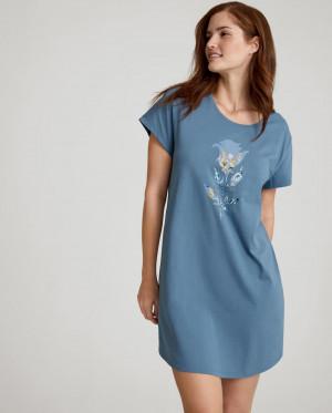 Dámská noční košile NDK 01 - BLUE SNOW - TRIUMPH BLUE SNOW - TRIUMPH BLUE SNOW