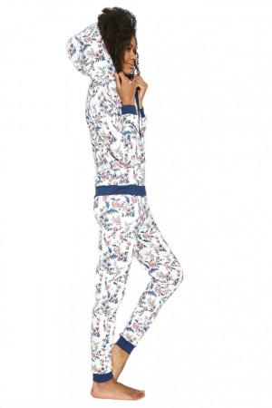 Dámské pyžamo 355/205 Kelly 3 kombinace - CORNETTE ecru-modrá