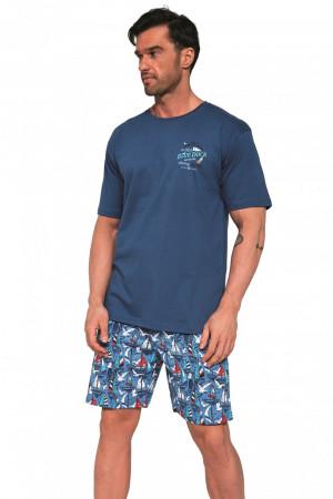 Pánské pyžamo 326/104 - CORNETTE džínová