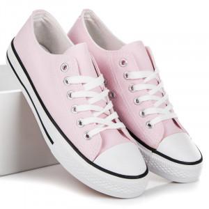 Pohodlné růžové textilní tenisky