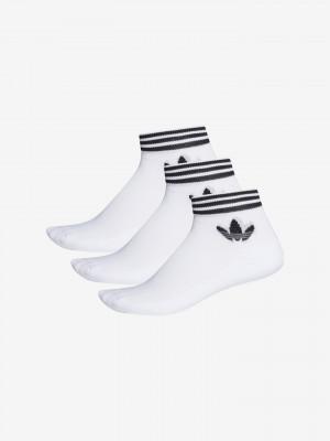 Trefoil Ankle Ponožky 3 páry adidas Originals Bílá
