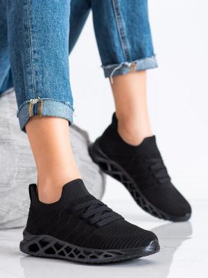 Krásné černé dámské  tenisky bez podpatku
