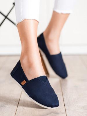 Pohodlné dámské modré  tenisky bez podpatku