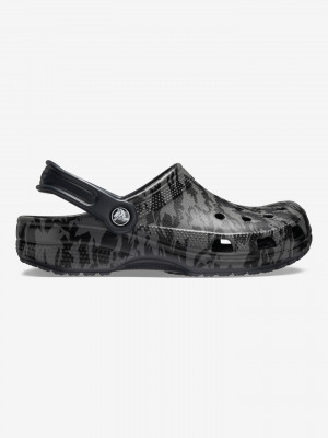 Classic Printed Camo Clog Crocs Crocs Černá