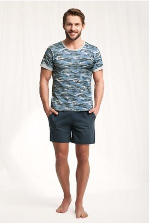 Pánské pyžamo Army 789 - Luna modro-šedá