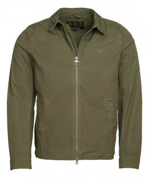Lehká bavlněná bunda Barbour Essential Casual - olivová