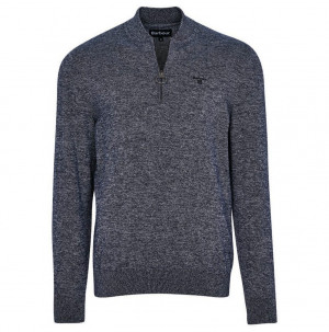 Lehký sportovní svetr Barbour Half Zip Sweater - navy