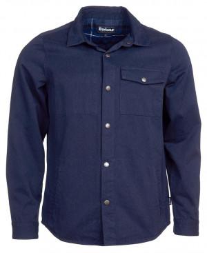 Overshirt Barbour Mortan - modrá
