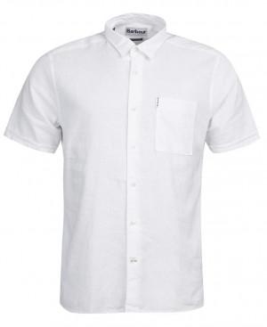 Letní košile Barbour Linen Mix Shirt - bílá