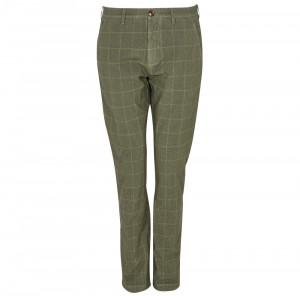 Kostkované kalhoty Barbour Essential Overdyed Check Trousers - zelené
