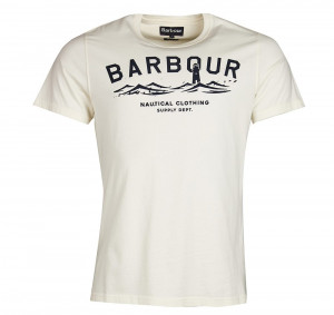 Tričko s majákem Barbour Bressay - krémově bílé