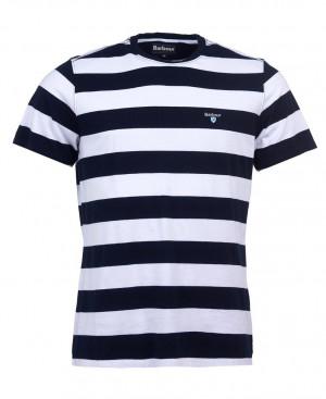 Pruhované tričko Barbour Beach Stripe - navy