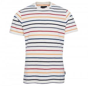 Pruhované tričko Barbour Summer Stripe - krémově bílé
