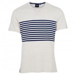 Tričko Barbour Rain - krémově bílé