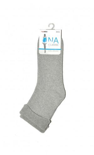Dámské ponožky Lady socks frote 037 - Bratex jeans-modrá 36/38