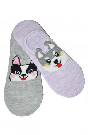 Dámské ponožky baleríny WiK Midini 0144 Pure Dog A'2 béžově modrá 36-38