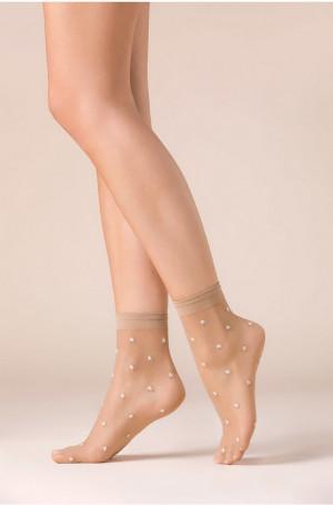 Dámské ponožky Gabriella 527 Stars Béžový Univerzální