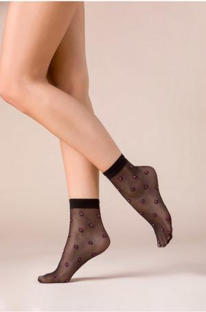 Dámské ponožky Gabriella 529 Stars Color nero-růžová Univerzální