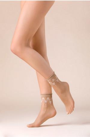 Dámské ponožky Gabriella 526 Bloom Béžový Univerzální