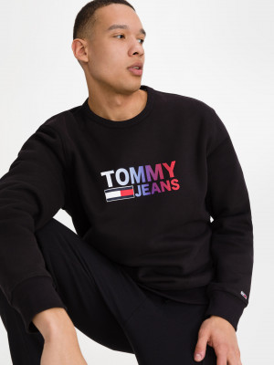Ombre Logo Mikina Tommy Jeans Černá