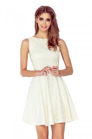 Dámské šaty 125-17 - NUMOCO krémová