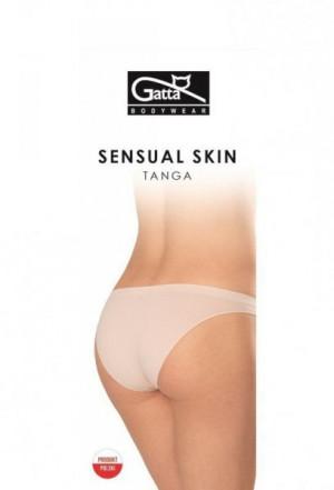 Gatta 41645 Tanga Sensual Skin Kalhotky L black