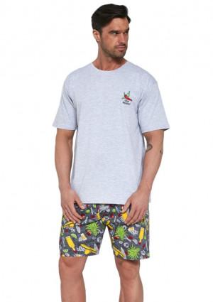 Pánské pyžamo Cornette 326/107 2XL Sv. šedá