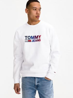Ombre Logo Mikina Tommy Jeans Bílá